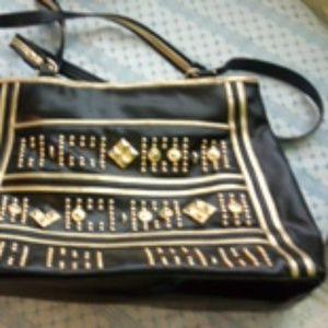 Handbags - Black gold bag